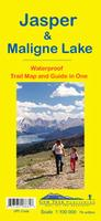 Jasper and Maligne Lake hiking map