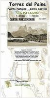 Torres del Paine hiking map