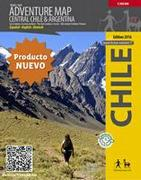 Central Chile hiking map