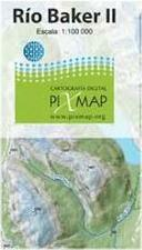Rio Baker hiking map