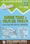 Cinque Terre hiking map