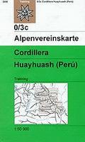 Cordillera Huayhuash hiking map