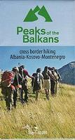 Peaks of the Balkans hiking map