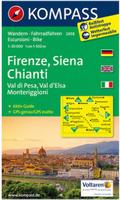 Chianti hiking map
