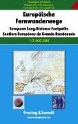 Europe long distance footpaths map
