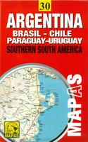 Southern South America Travel Map