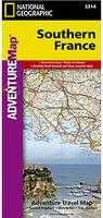 Southern France travel map