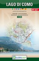 Lago di Como hiking map