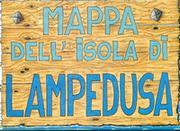 Lampedusa Island map