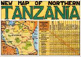 Northern Tanzania map