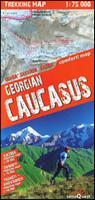 Georgian Caucasus hiking map