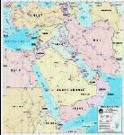 Middle East Graphic Map
