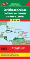 Caribbean travel map