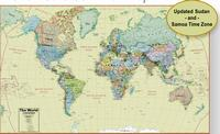 World Boardroom wall map