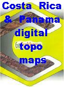 Costa Rica digital topographic maps
