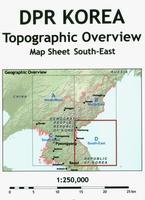 North Korea topographic map