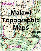 Malawi topographic maps
