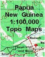 Papua New Guinea topographic maps
