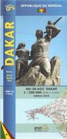 Dakar topographic map
