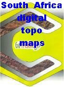 South Africa digital topographic maps