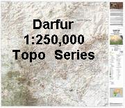 Darfur topographic map