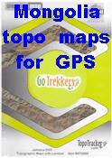Mongolia digital topographic maps