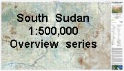 South Sudan Southern Blue Nile Topographic Map