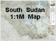 South Sudan Topographic Map