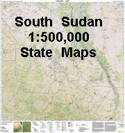 South Sudan Lakes State Topographic Map