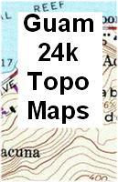 Guam topographic map