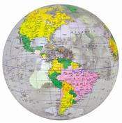 clear ocean inflatable globe
