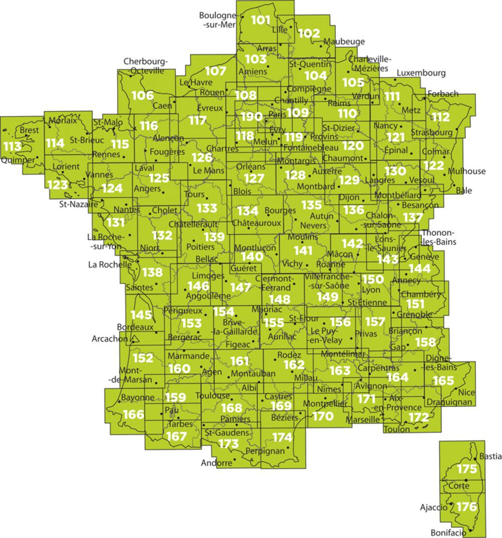 France Maps From Omnimap Map Store Hiking Maps Travel Maps Wall
