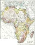 Historic 1909 Africa map