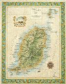 Grenada wall map