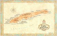 Little Cayman wall map