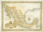 Mexico wall map