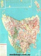 Brisbane raised relief map