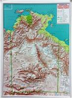 Northern Territory raised relief map