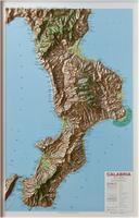 Calabria raised relief map