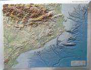 Catalunya raised relief map