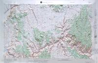 Grand Canyon raised relief map