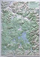 national park raised relief map