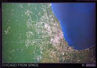 Chicago satellite map