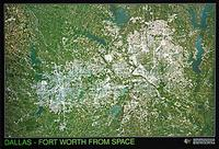 Dallas satellite map