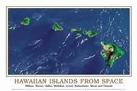 Hawaii satellite map