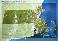 Massachusetts satellite map