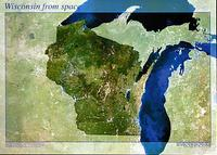 Wisconsin satellite map