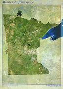 Minnesota satellite map