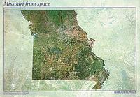 Missouri satellite map