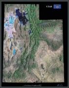 Utah satellite map